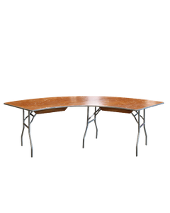 "30"" x 84"" Serpentine Table"
