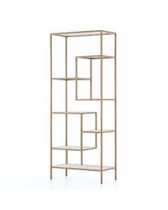 Skyler Brass Bookcase