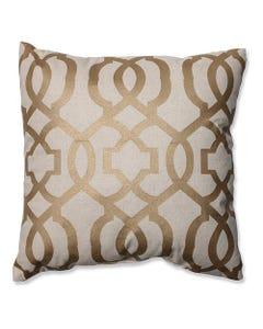 "Gold Geometric Pillow 16.5"" x 16.5"""