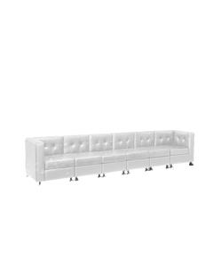 White Lowback Long Sofa