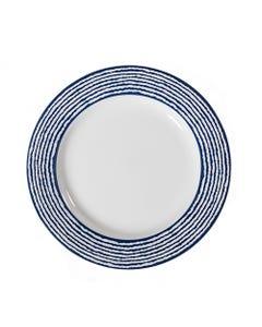 "Nantucket Stripe Salad Plate 8"""