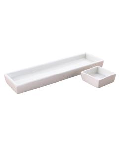 White Square Condiment Plate