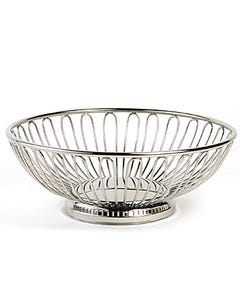 """Stainless Bread Basket 8"""""""