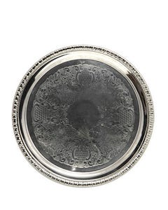 """14"""" Round Gadroon Tray"""