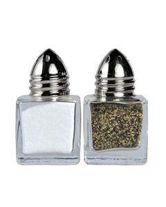 Mini Glass Cube Silver Top Shaker