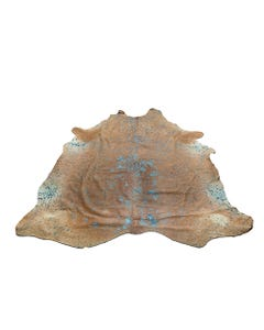 Turquoise Cowhide