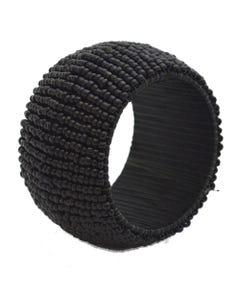 Black Beaded Napkin Ring