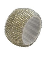 Silver Beaded Napkin Ring
