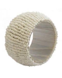 White Beaded Napkin Ring