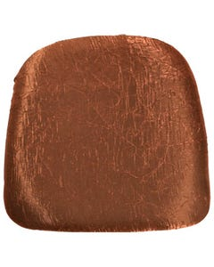 Copper Iridescent Crush Chair Pad Cover