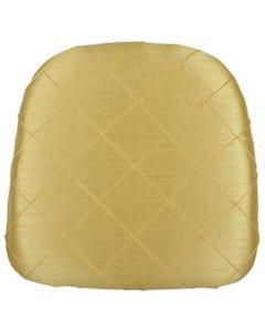 Soft Gold Nova Pintuck Chair Pad Cover