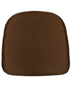 Chocolate Nova Solid Chair Pad Cover