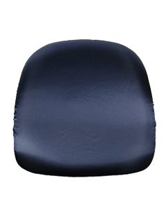 Navy Satin Chair Pad Cover