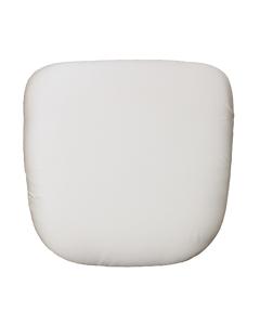 Vanilla Cream Satin Chair Pad Cover