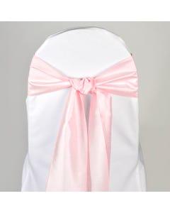 Pastel Pink Nova Solid Chair Sash