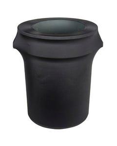 Black Spandex Garbage Can Cover - 32 Gallon